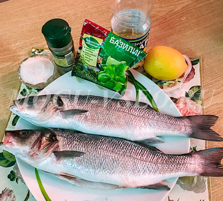 Сибас, или морской окунь, в духовке рецепт фото
