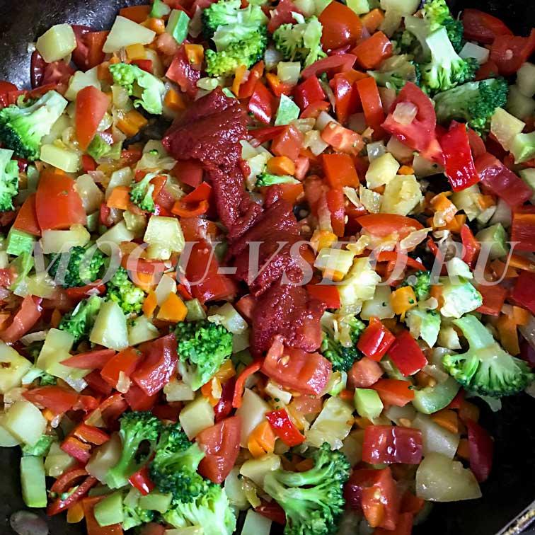глазунья с овощами рецепт фото