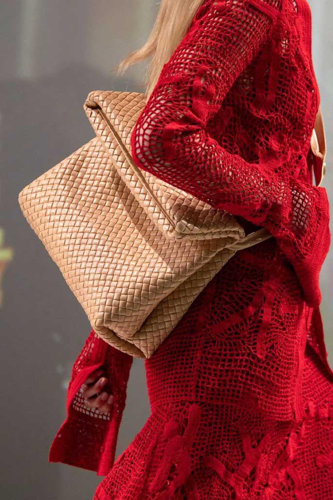 Модные плетеные сумки 2020 фото