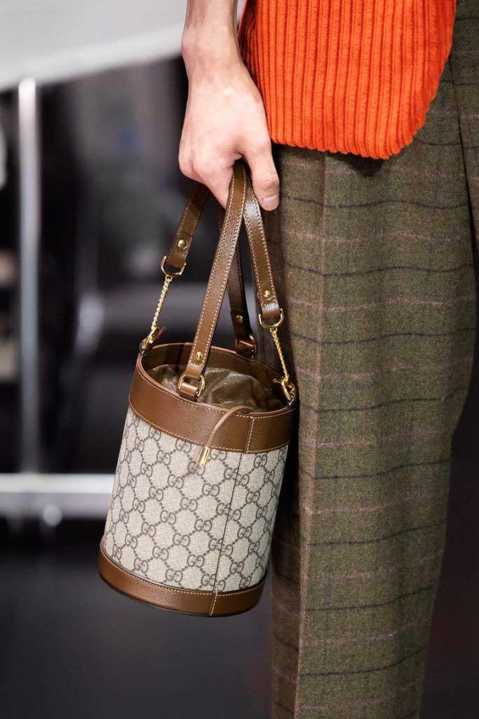 Модные сумки-ведерки осень 2020 фото