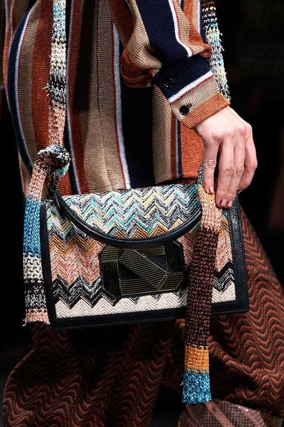 Модные вязаные сумки осень 2020 фото