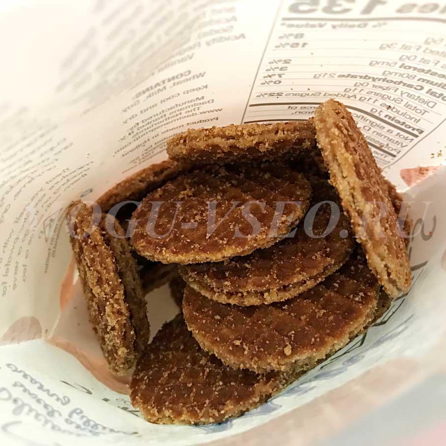 Голландские карамельные вафли Stroopwafels