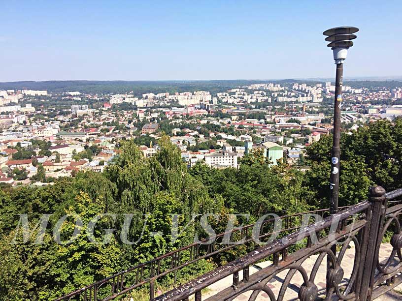 город Львов вид с холма фото