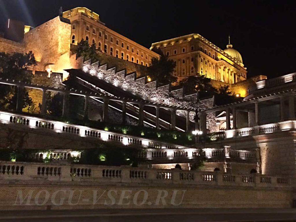Ночной Будапешт королевский дворец фото