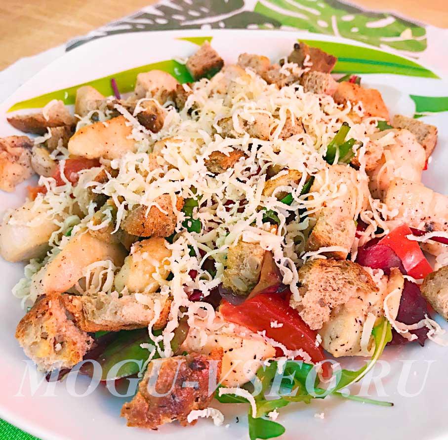 теплый салат с курицей и овощами рецепт