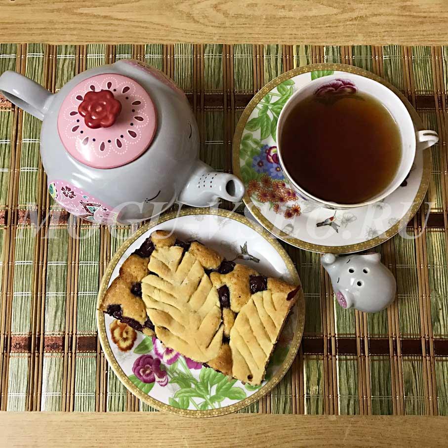 Как испечь вкусный вишневый пирог к чаю фото