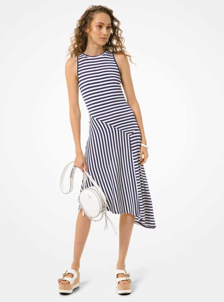тренды сезона весна-лето 2020 платье в полоску