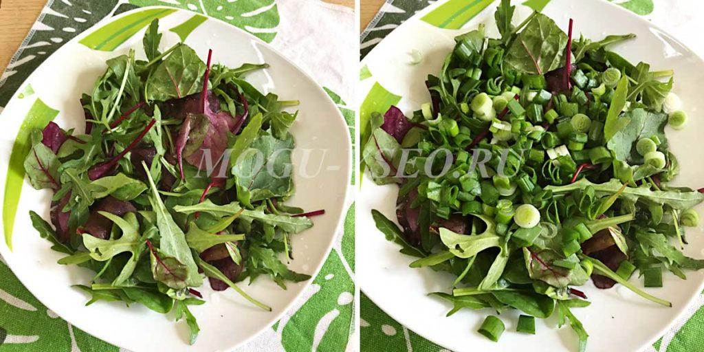 Тёплый салат с курицей и овощами рецепт