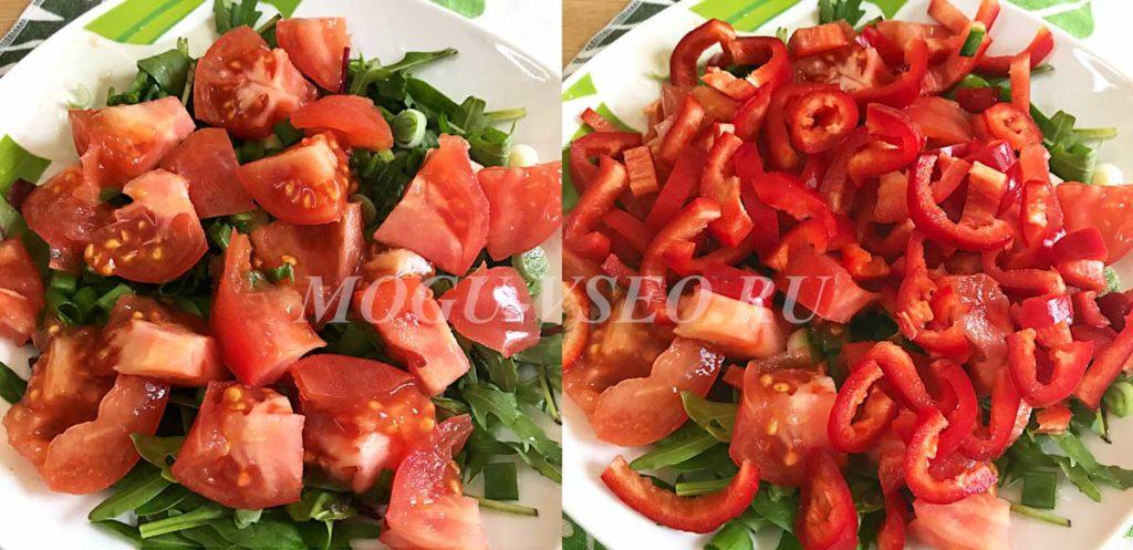 Тёплый салат с курицей и овощами как приготовить