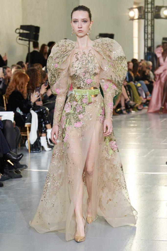 Показ Elie Saab весна 2020 haute couture