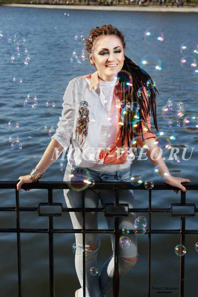 фотосессия с мыльными пузырями фото