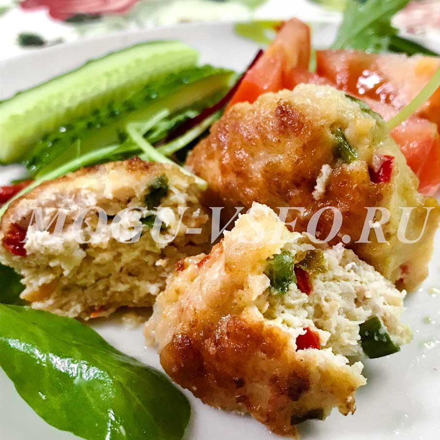 куриные котлеты с овощами фото