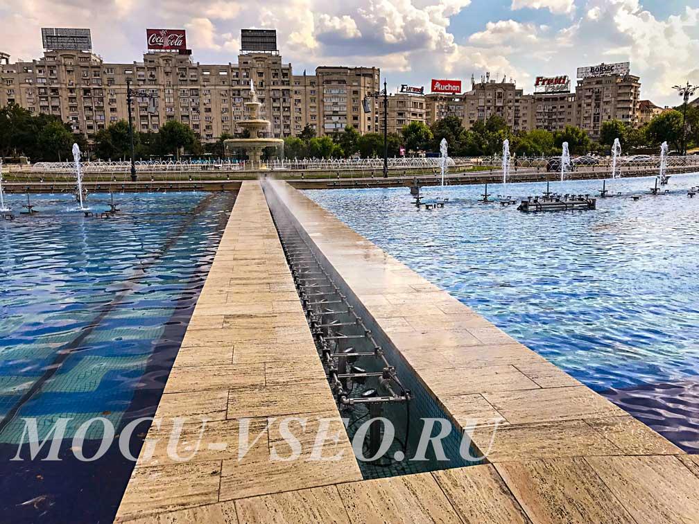 Бухарест фонтан площадь объединения фото