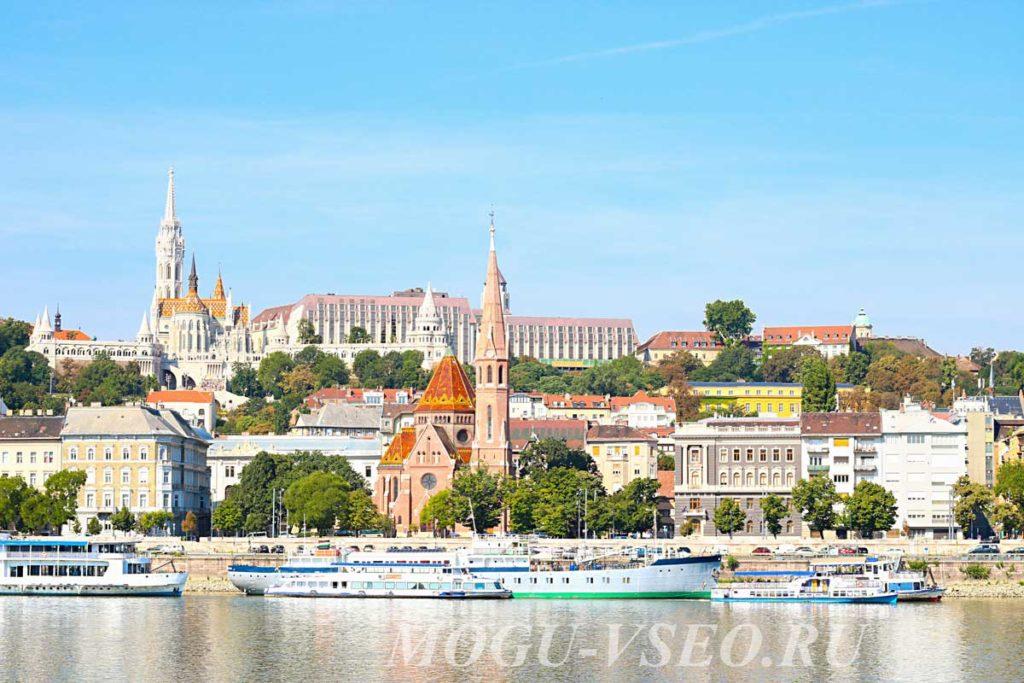 Будапешт вид на королевский дворец фото