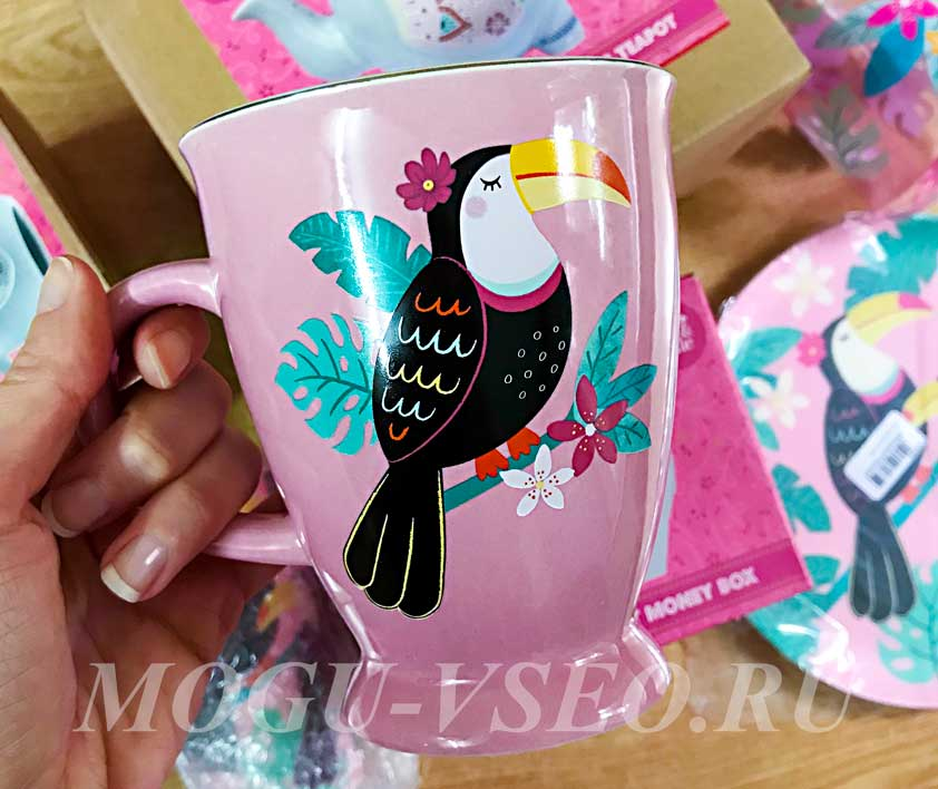 чашка с птицей Sass&Belle фото