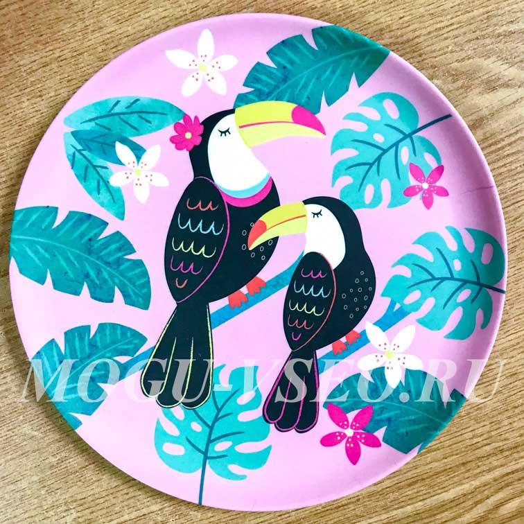 бамбуковая тарелка Sass & belle фото