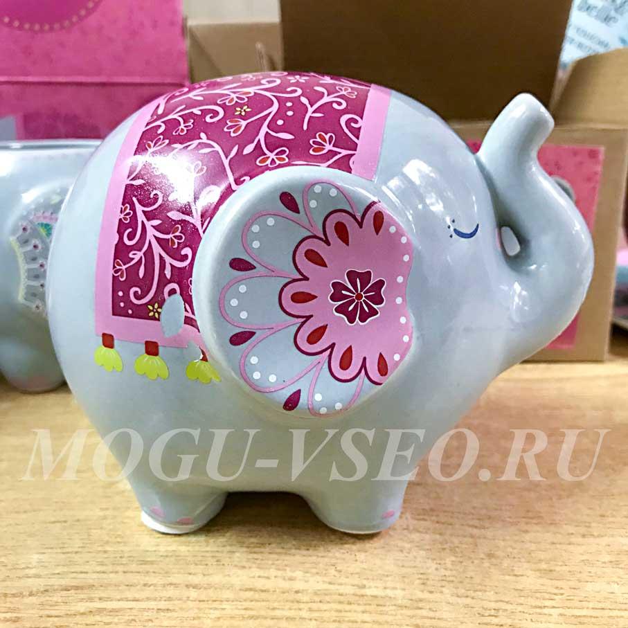 керамическая копилка слоник Sass & belle фото