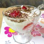 десерт клубника в сметанном креме фото