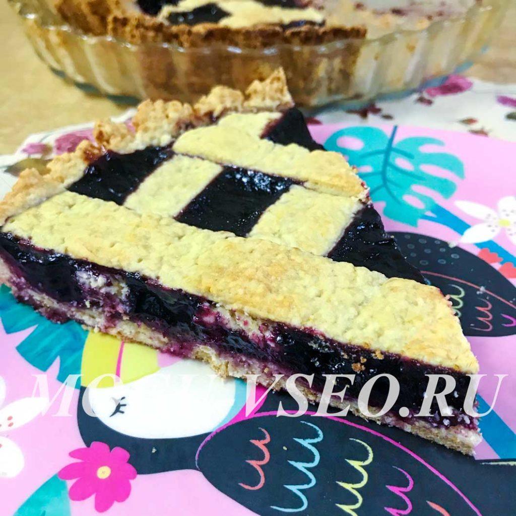 пирог из песочного теста со смородиной фото